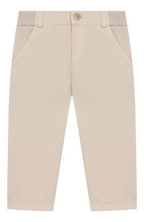Детские хлопковые брюки LORO PIANA бежевого цвета, арт. FAI5625 | Фото 1