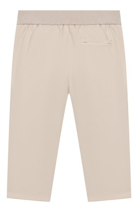 Детские хлопковые брюки LORO PIANA бежевого цвета, арт. FAI5625 | Фото 2