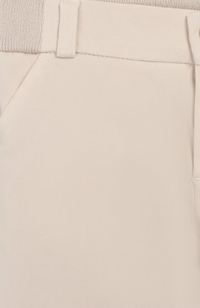 Детские хлопковые брюки LORO PIANA бежевого цвета, арт. FAI5625 | Фото 3