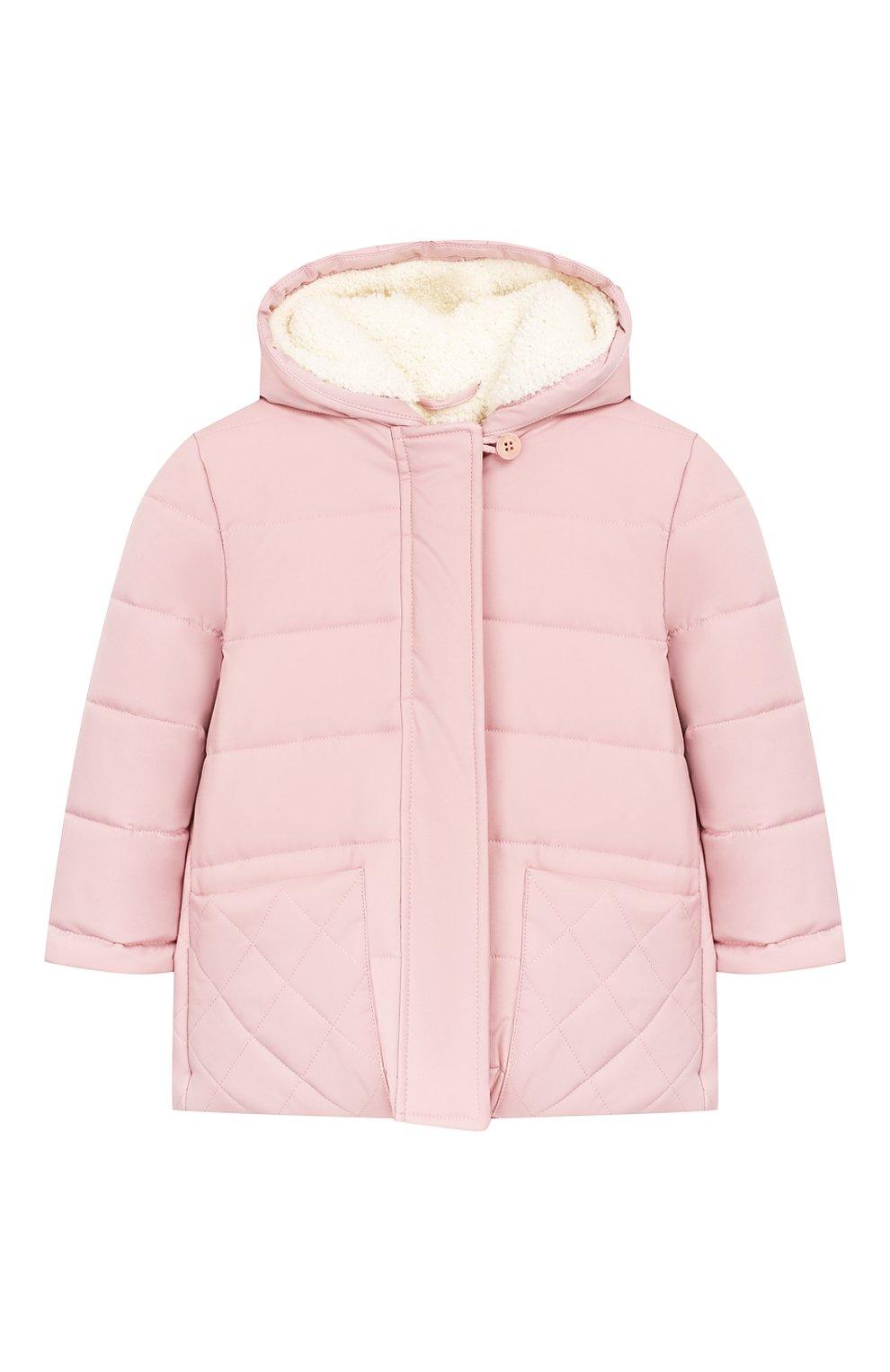 Детского куртка с капюшоном LORO PIANA розового цвета, арт. FAG3867   Фото 1