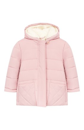 Детского куртка с капюшоном LORO PIANA розового цвета, арт. FAG3867 | Фото 1