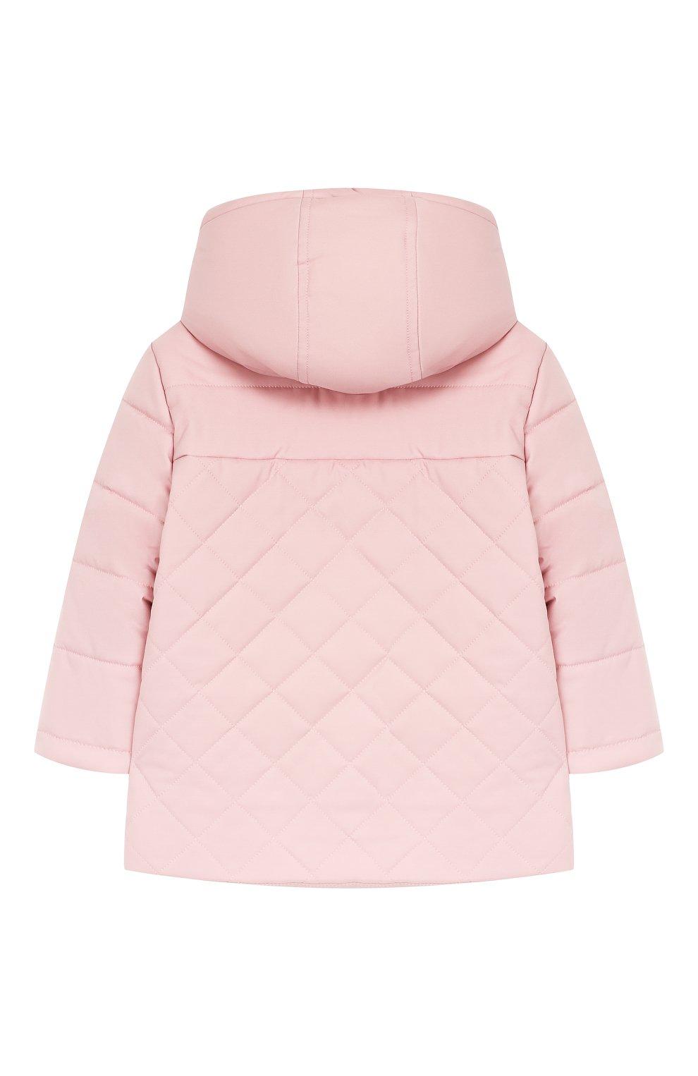 Детского куртка с капюшоном LORO PIANA розового цвета, арт. FAG3867   Фото 2