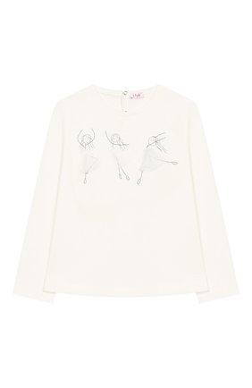 Детская хлопковый лонгслив IL GUFO белого цвета, арт. A19TA205M0094/2А-4А | Фото 1