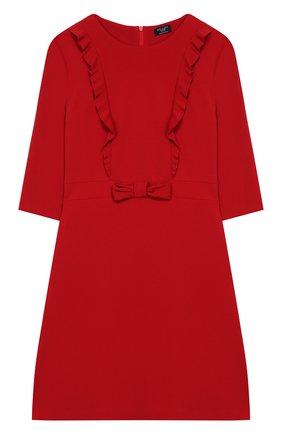 Детское платье из вискозы DAL LAGO красного цвета, арт. R280/8111/13-16 | Фото 1