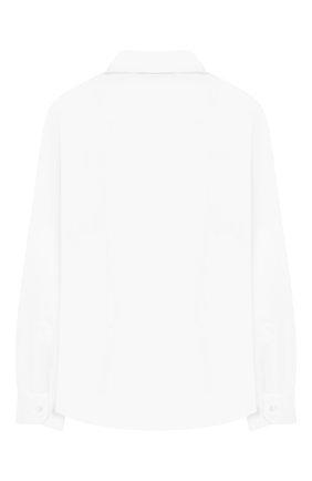 Детская хлопковая рубашка DAL LAGO белого цвета, арт. N402/7915/13-16 | Фото 2