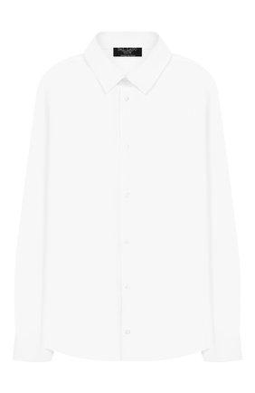 Детская хлопковая рубашка DAL LAGO белого цвета, арт. N402/7915/13-16 | Фото 1
