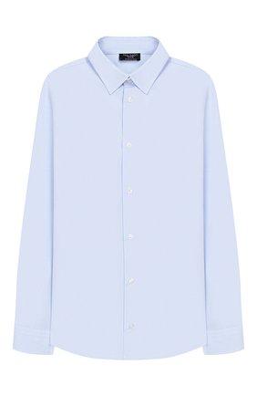 Детская хлопковая рубашка DAL LAGO голубого цвета, арт. N402/7628/13-16 | Фото 1