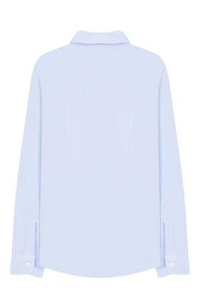 Детская хлопковая рубашка DAL LAGO голубого цвета, арт. N402/7628/13-16 | Фото 2