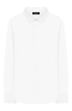 Детская хлопковая рубашка DAL LAGO белого цвета, арт. N402/7628/7-12 | Фото 1