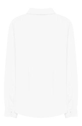 Детская хлопковая рубашка DAL LAGO белого цвета, арт. N402/7628/7-12 | Фото 2