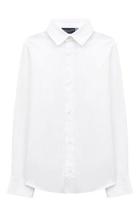 Детская хлопковая рубашка DAL LAGO белого цвета, арт. N402/7317/13-16 | Фото 1