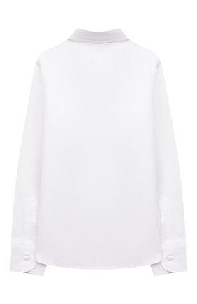 Детская хлопковая рубашка DAL LAGO белого цвета, арт. N402/7317/13-16 | Фото 2
