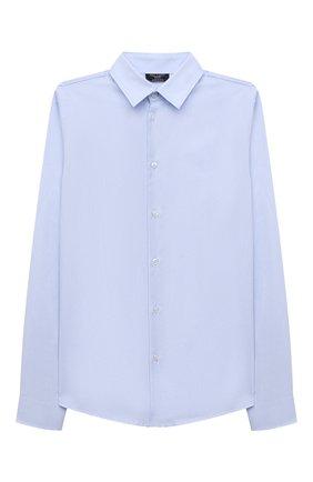 Детская хлопковая рубашка DAL LAGO голубого цвета, арт. N402/7317/13-16 | Фото 1