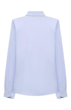 Детская хлопковая рубашка DAL LAGO голубого цвета, арт. N402/7317/13-16 | Фото 2