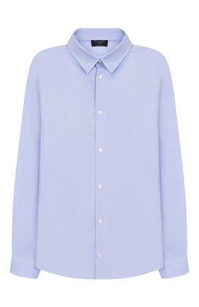 Детская хлопковая рубашка DAL LAGO темно-синего цвета, арт. N402/7317/13-16 | Фото 1
