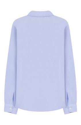 Детская хлопковая рубашка DAL LAGO темно-синего цвета, арт. N402/7317/13-16 | Фото 2