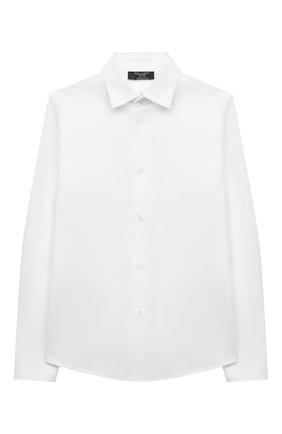 Детская хлопковая рубашка DAL LAGO белого цвета, арт. N402/7317/7-12 | Фото 1