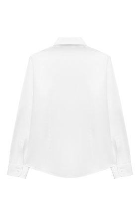 Детская хлопковая рубашка DAL LAGO белого цвета, арт. N402/7317/7-12 | Фото 2