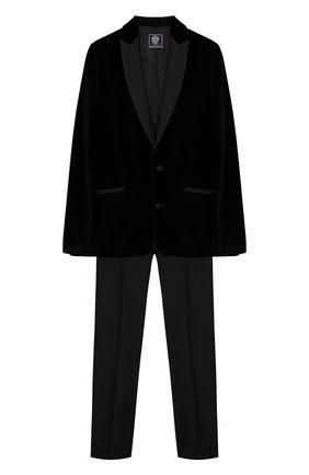 Детский костюм из пиджака и брюк DAL LAGO темно-синего цвета, арт. N062M/7712/17/L-18/XL | Фото 1