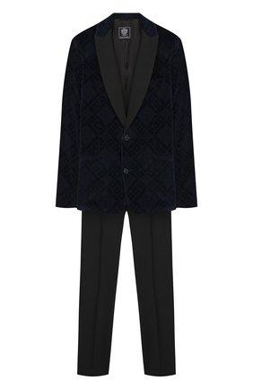 Детский костюм из пиджака и брюк DAL LAGO темно-синего цвета, арт. N058RM/8732/17/L-18/XL | Фото 1
