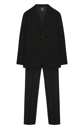 Детский костюм из пиджака и брюк DAL LAGO черного цвета, арт. N010M/1011/17/L-18/XL | Фото 1