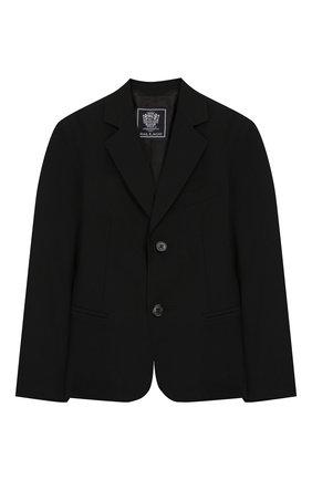 Детский костюм из пиджака и брюк DAL LAGO черного цвета, арт. N010/1011/4-6 | Фото 2