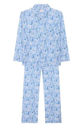Женская хлопковая пижама DEREK ROSE голубого цвета, арт. 7025-LEDB023/3-12 | Фото 1