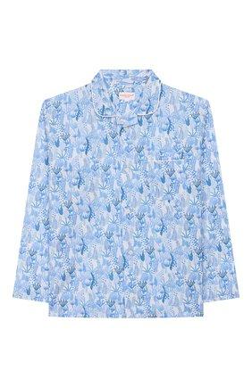 Женская хлопковая пижама DEREK ROSE голубого цвета, арт. 7025-LEDB023/3-12 | Фото 2