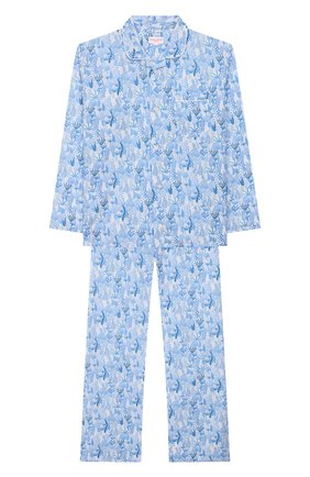 Женская хлопковая пижама DEREK ROSE голубого цвета, арт. 7025-LEDB023/13-16 | Фото 1