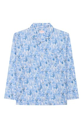 Женская хлопковая пижама DEREK ROSE голубого цвета, арт. 7025-LEDB023/13-16 | Фото 2