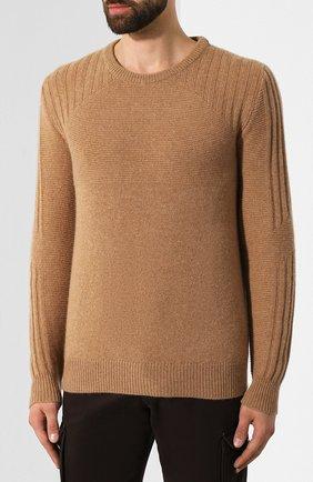 Мужской кашемировый джемпер KITON бежевого цвета, арт. UK1122 | Фото 3