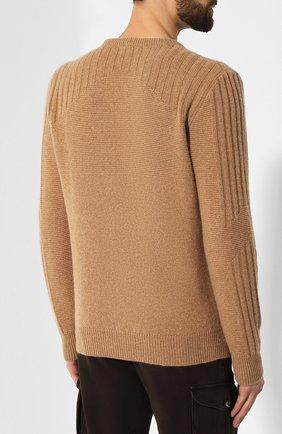 Мужской кашемировый джемпер KITON бежевого цвета, арт. UK1122 | Фото 4