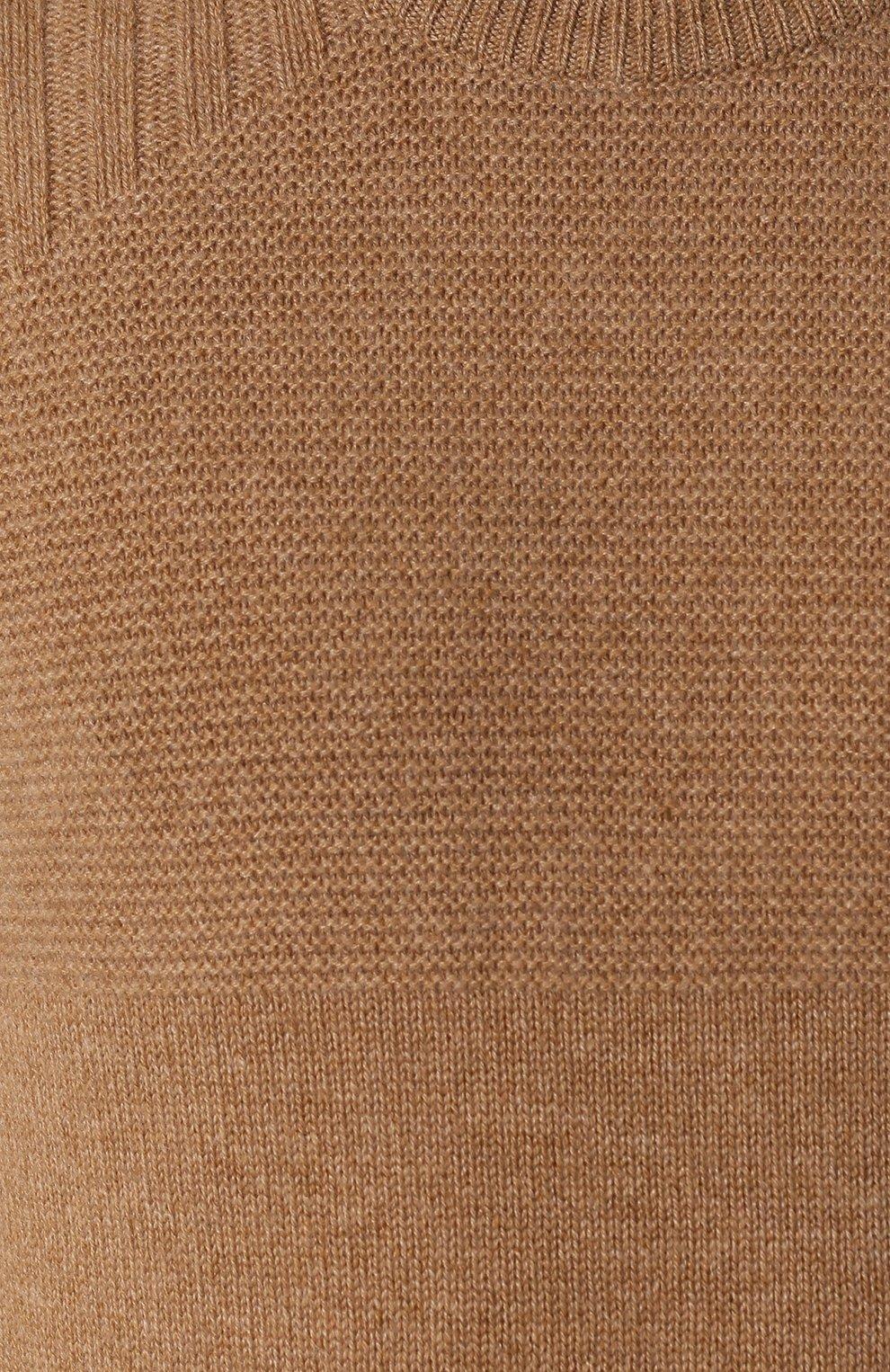 Мужской кашемировый джемпер KITON бежевого цвета, арт. UK1122 | Фото 5