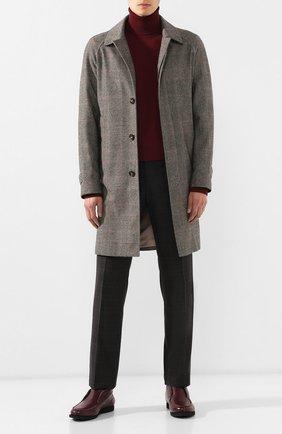 Мужские кожаные ботинки KITON бордового цвета, арт. USSFLYN00126/LINING M0NT0NE | Фото 2 (Мужское Кросс-КТ: Ботинки-обувь, зимние ботинки; Подошва: Плоская; Материал внутренний: Натуральная кожа)
