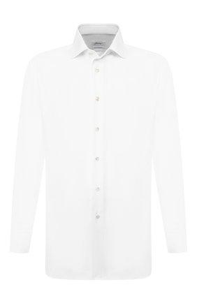 Мужская хлопковая сорочка BRIONI белого цвета, арт. RCL41B/PZ065 | Фото 1