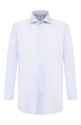 Мужская хлопковая сорочка BRIONI светло-голубого цвета, арт. RCL834/P7003 | Фото 1