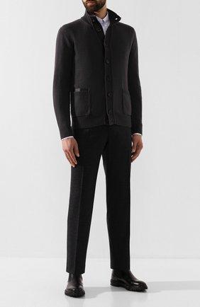 Мужской шерстяные брюки BRIONI темно-серого цвета, арт. UJBV0L/08631 | Фото 2