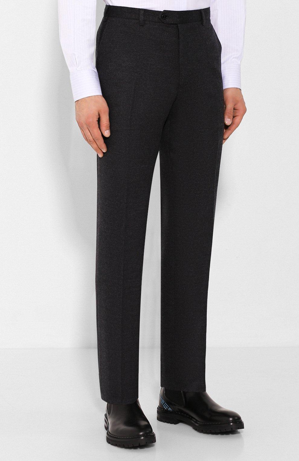 Мужские шерстяные брюки BRIONI темно-серого цвета, арт. UJBV0L/08631 | Фото 3
