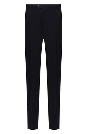 Мужской шерстяные брюки BRIONI темно-синего цвета, арт. UJBV0L/08631 | Фото 1