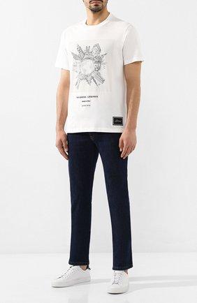 Мужская хлопковая футболка BRIONI белого цвета, арт. UJCH0L/08627 | Фото 2