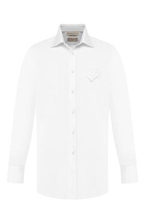 Мужская хлопковая сорочка BOTTEGA VENETA белого цвета, арт. 582830/VF3X0 | Фото 1