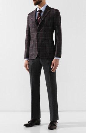 Мужской шерстяные брюки PAL ZILERI темно-серого цвета, арт. P3110--K---B1023 | Фото 2