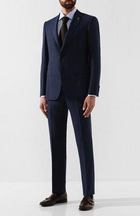 Мужская хлопковая сорочка PAL ZILERI голубого цвета, арт. P370G45S---B0210 | Фото 2