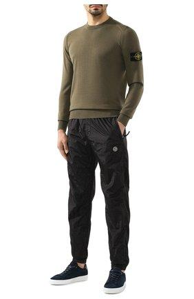 Мужской шерстяной джемпер STONE ISLAND хаки цвета, арт. 7115524C4 | Фото 2