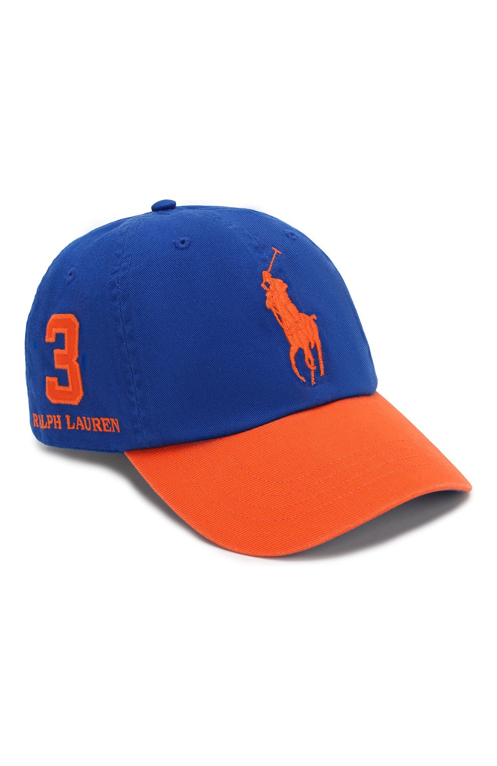 Мужской хлопковая бейсболка POLO RALPH LAUREN синего цвета, арт. 710763073 | Фото 1