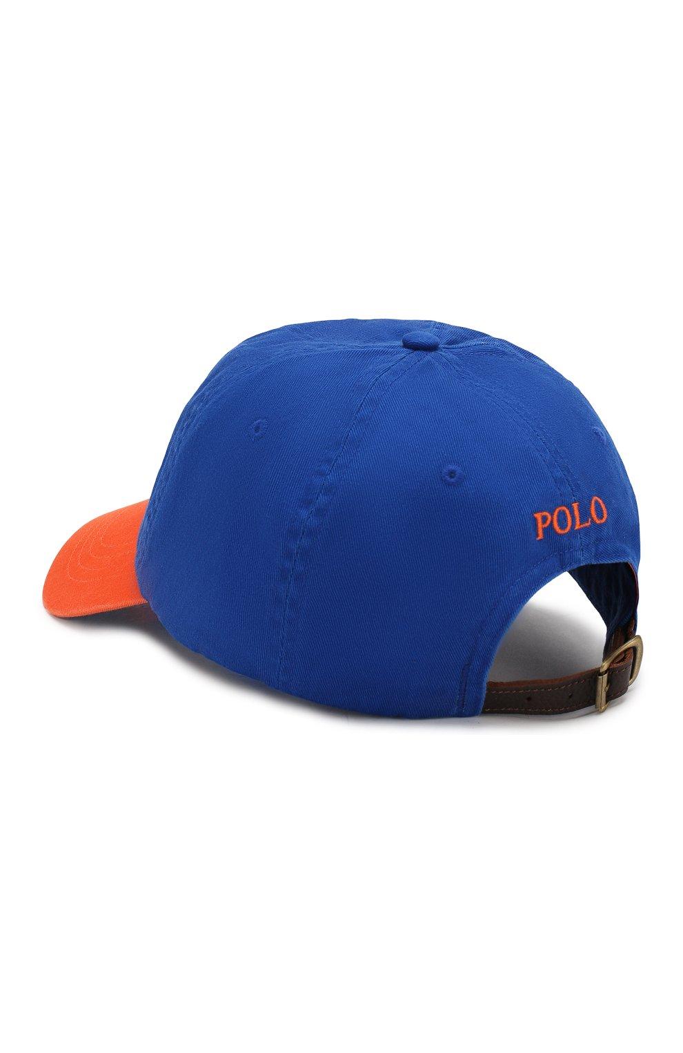 Мужской хлопковая бейсболка POLO RALPH LAUREN синего цвета, арт. 710763073 | Фото 2