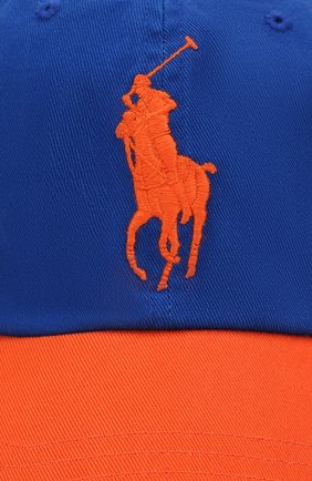Мужской хлопковая бейсболка POLO RALPH LAUREN синего цвета, арт. 710763073 | Фото 3