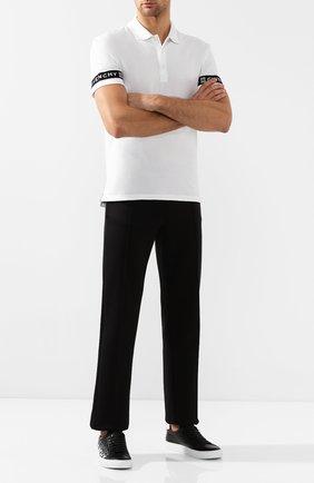 Мужские кожаные кеды GIVENCHY черно-белого цвета, арт. BH0002H0E0 | Фото 2