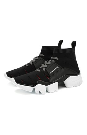 Мужские текстильные кроссовки jaw GIVENCHY черного цвета, арт. BH0021H0FM | Фото 1