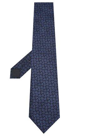 Мужской шелковый галстук ERMENEGILDO ZEGNA темно-синего цвета, арт. Z6E00/1XW | Фото 2